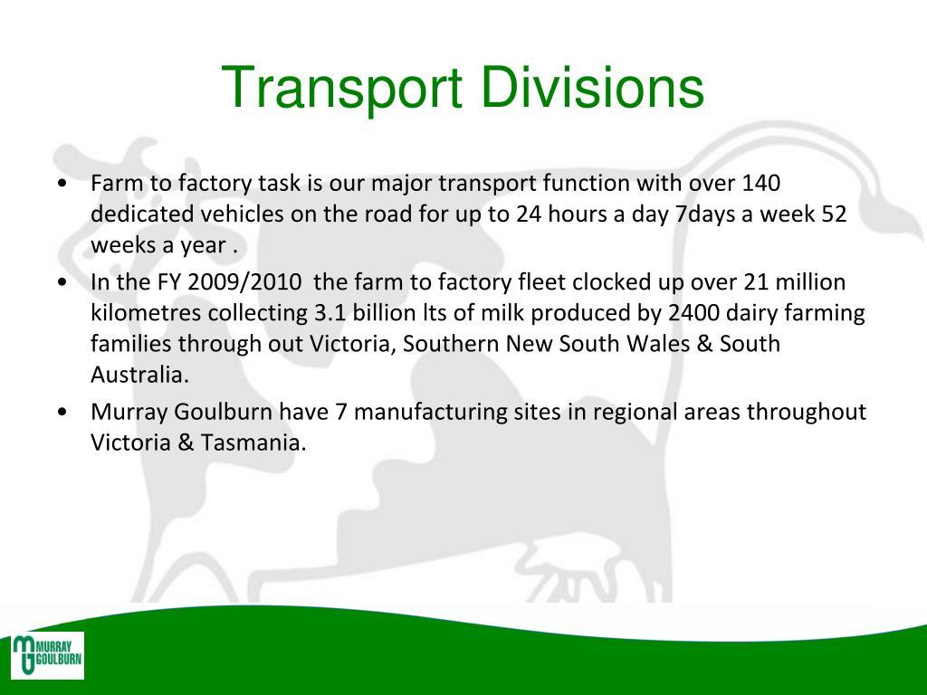Transport Divisions