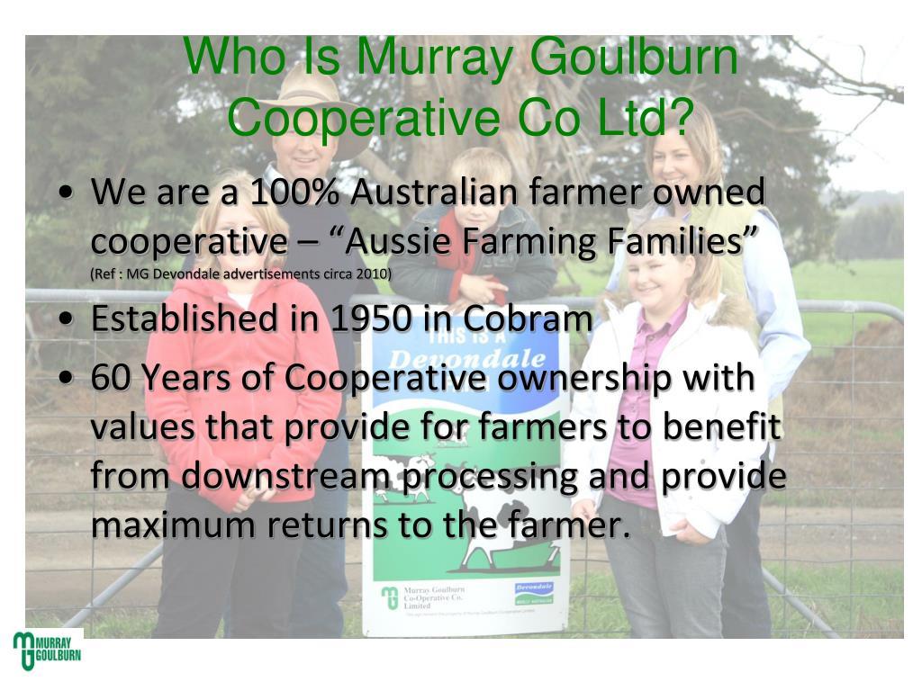 Who Is Murray Goulburn Cooperative Co Ltd?