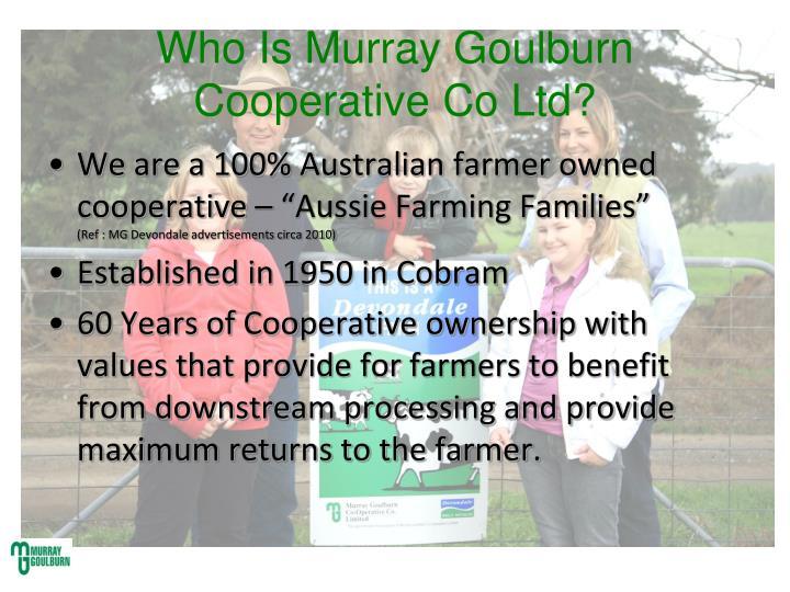 Who is murray goulburn cooperative co ltd