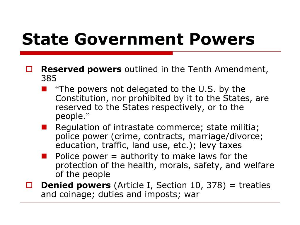 State Government Powers
