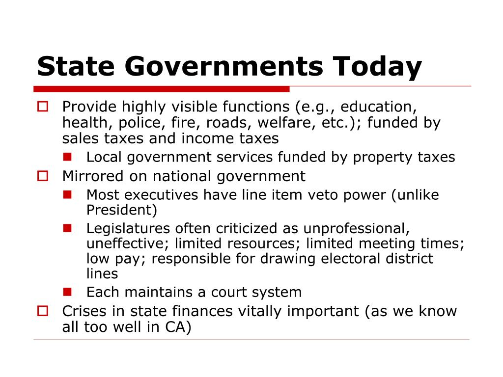 State Governments Today