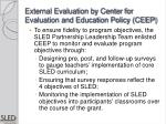 external evaluation by center for evaluation and education policy ceep