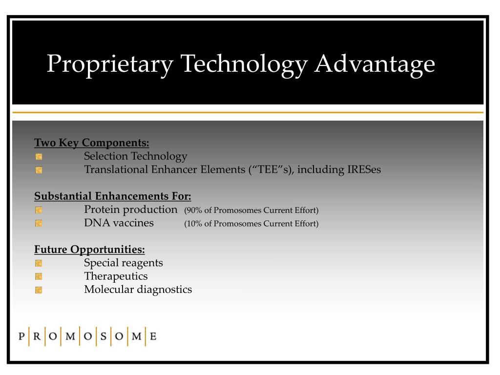 Proprietary Technology Advantage