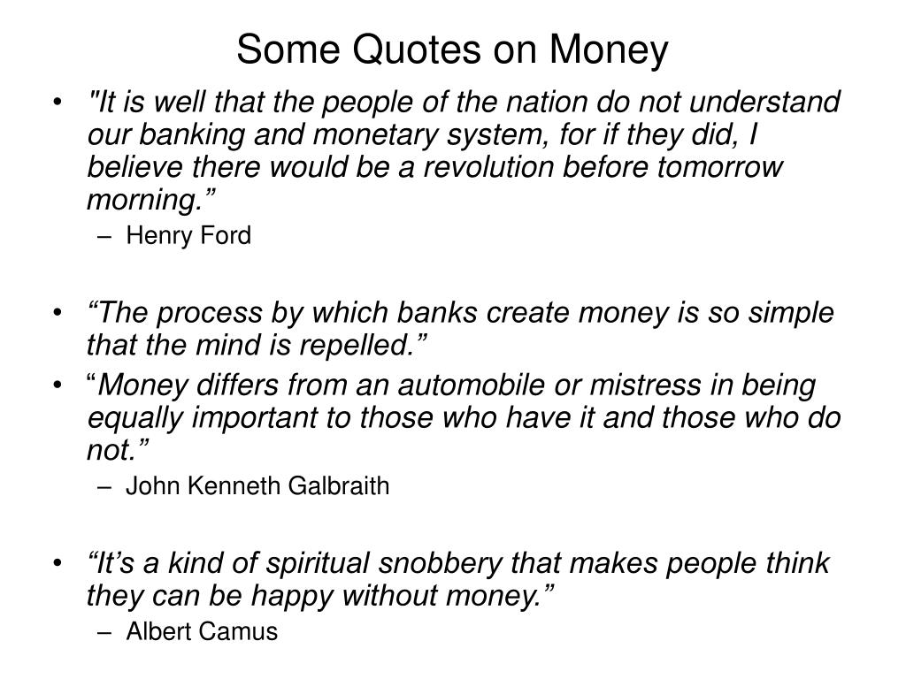 Some Quotes on Money
