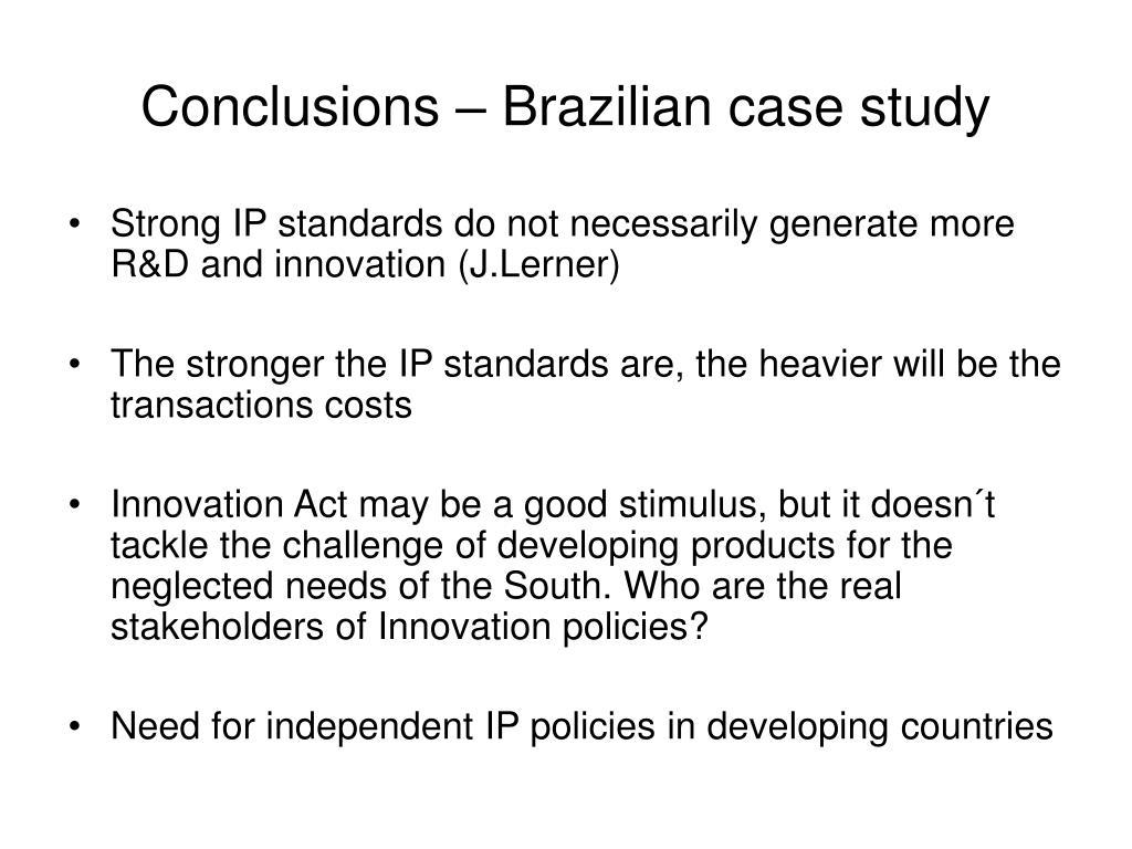Conclusions – Brazilian case study