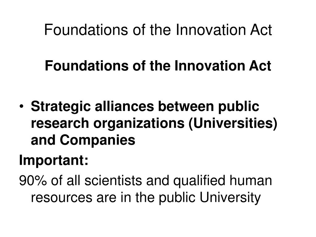 Foundations of the Innovation Act