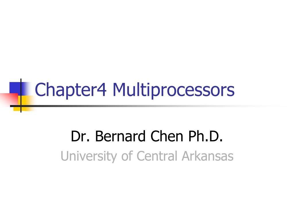 chapter4 multiprocessors l.