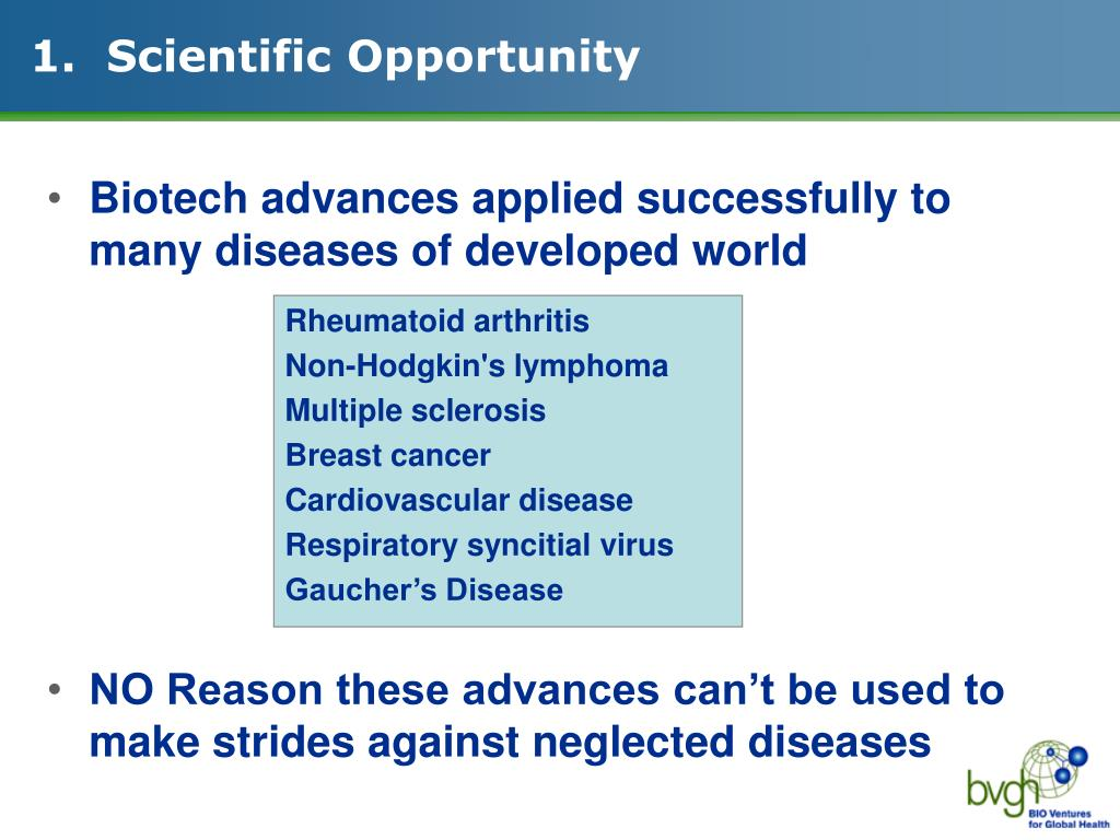 1.  Scientific Opportunity