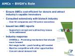 amcs bvgh s role