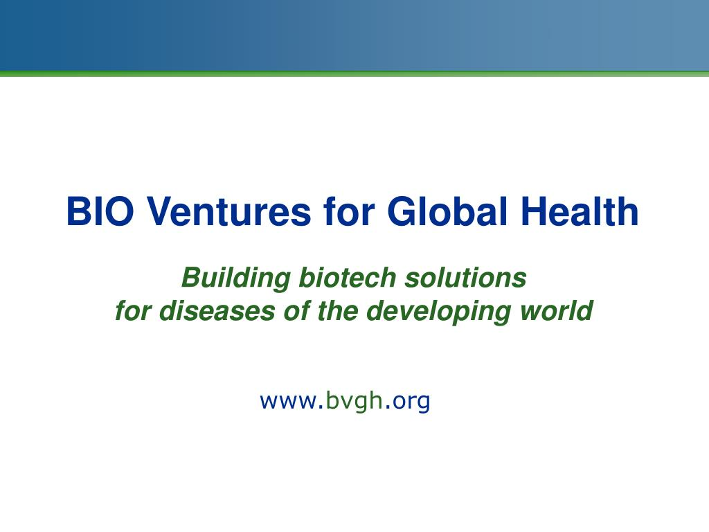 BIO Ventures for Global Health