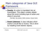 main categories of java gui f ramework11