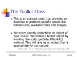 the toolkit class
