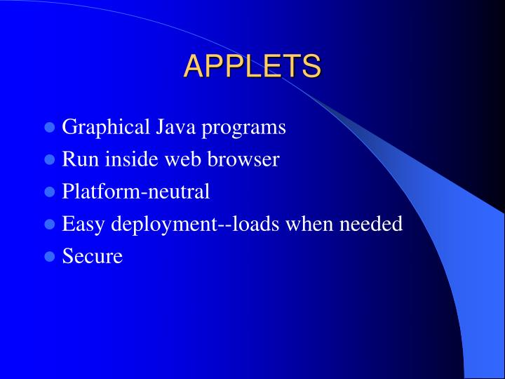 Applets2