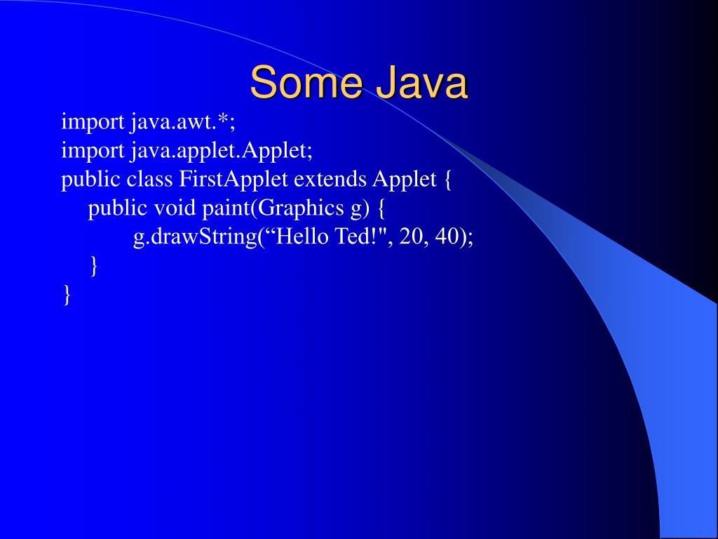 Some Java