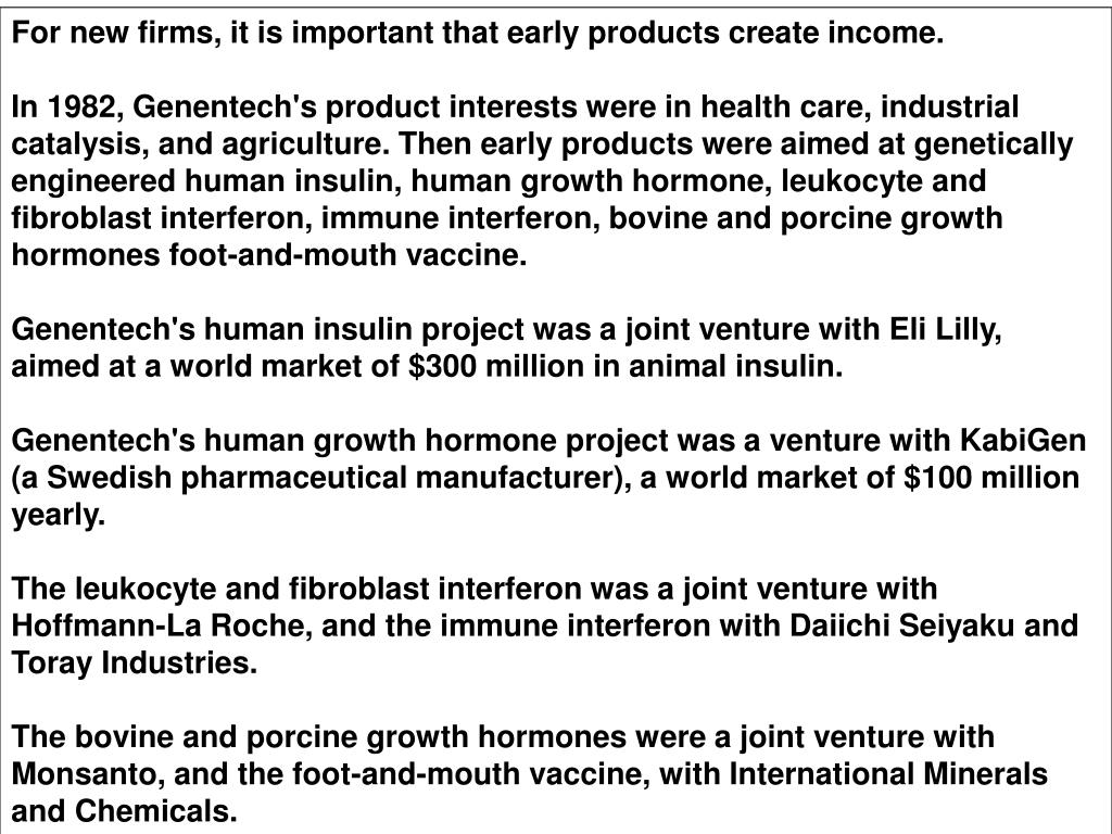 For new firms, it is important that early products create income.