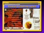 desktop publishing layout