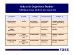 industrial organisms studied nir bioprocess method development