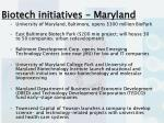 biotech initiatives maryland