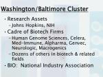 washington baltimore cluster