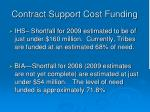 contract support cost funding