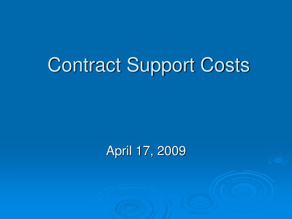contract support costs l.