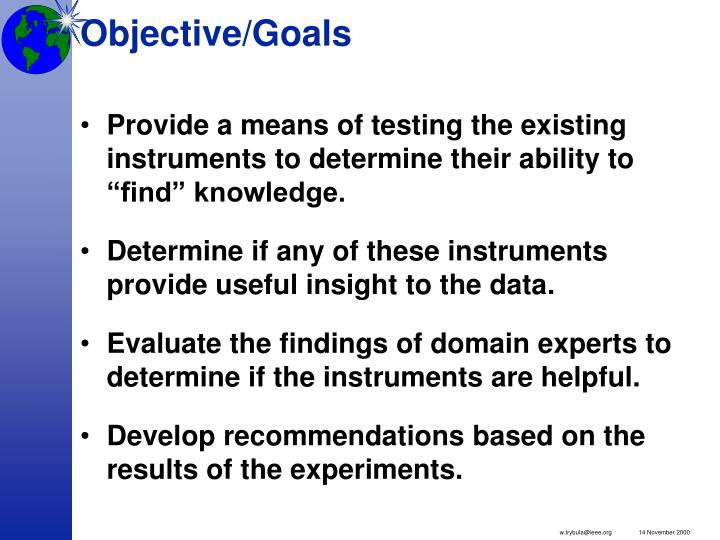 Objective goals