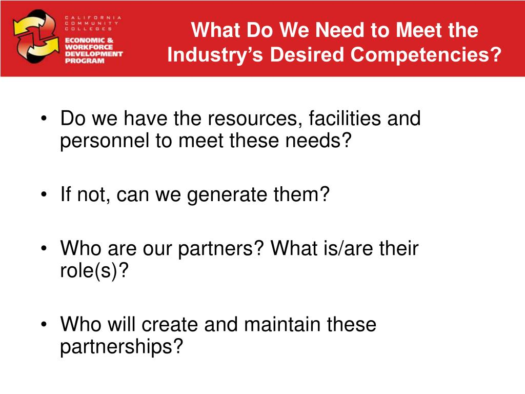 What Do We Need to Meet the Industry's Desired Competencies?