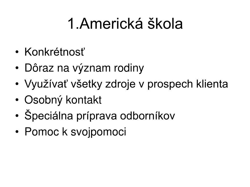 1.Americká škola