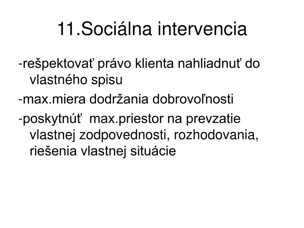 11.Sociálna intervencia