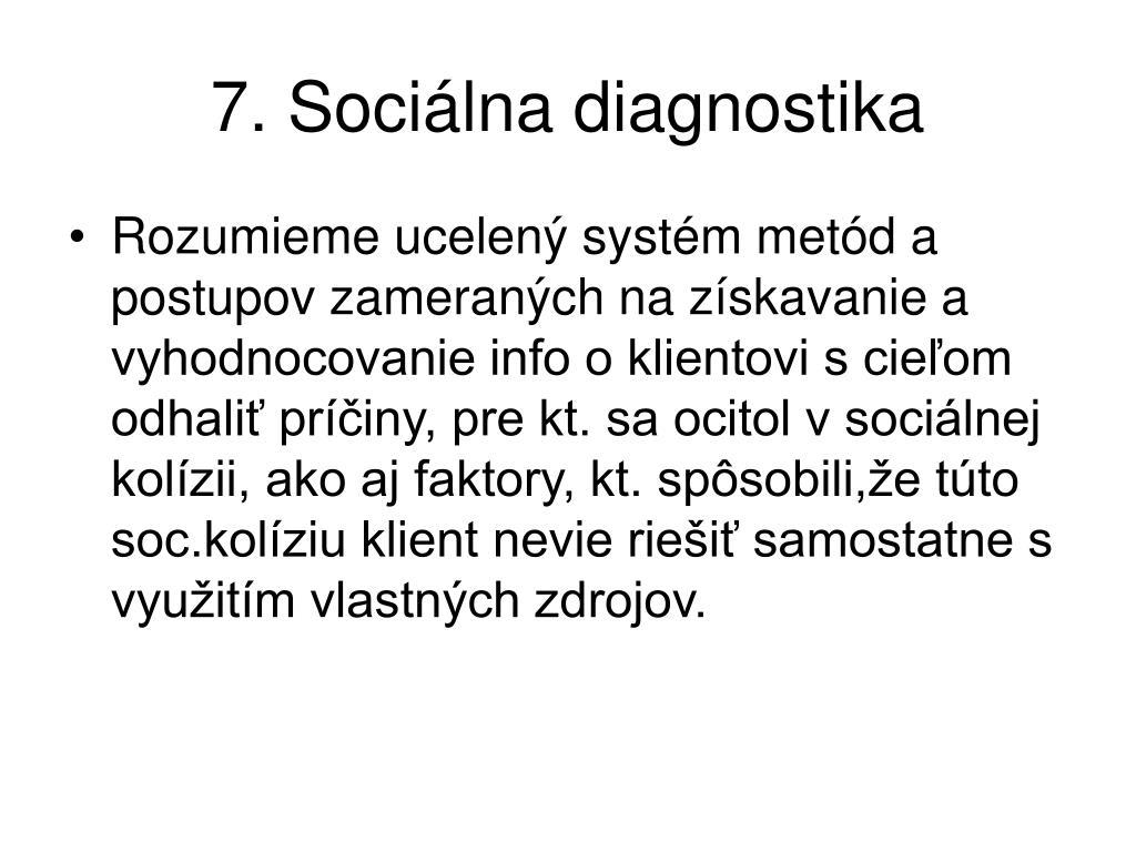 7. Sociálna diagnostika
