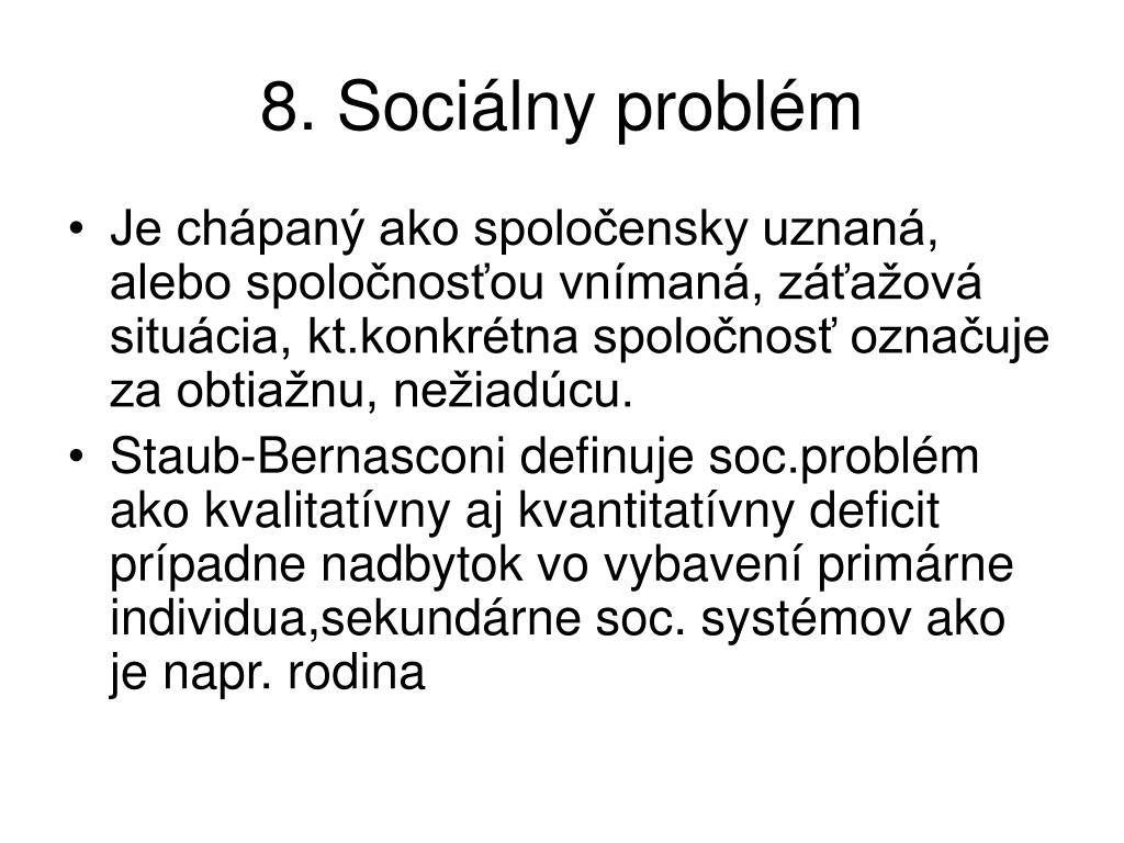 8. Sociálny problém