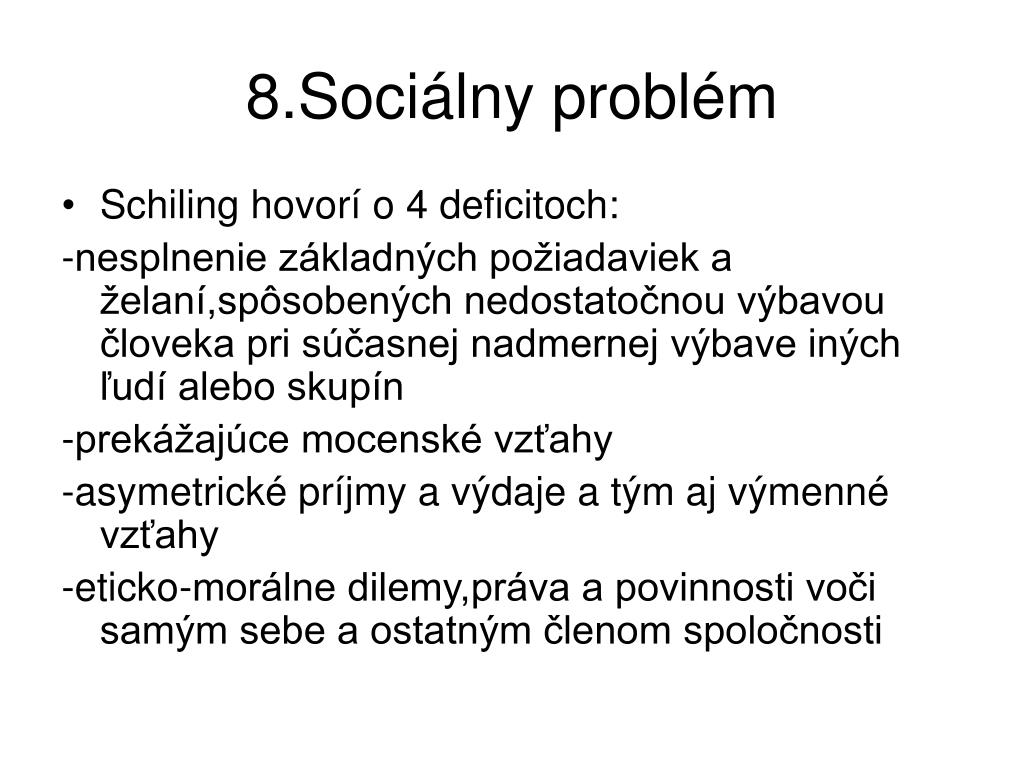 8.Sociálny problém
