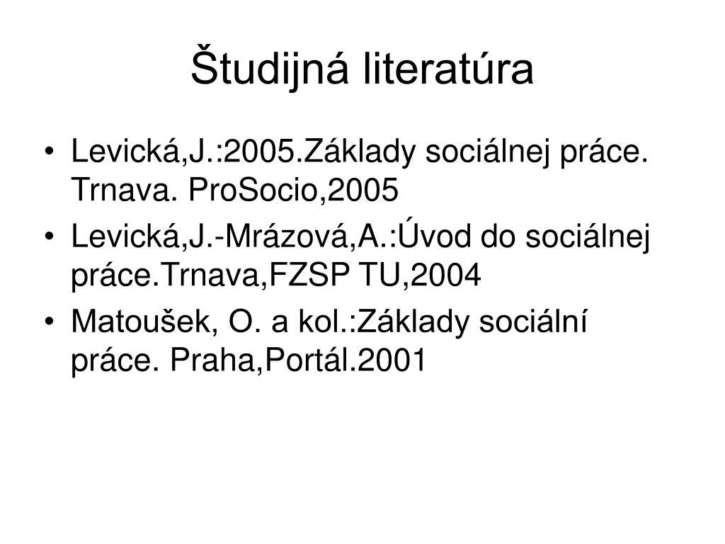 Študijná literatúra