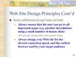 web site design principles cont d39