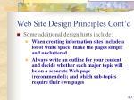 web site design principles cont d40