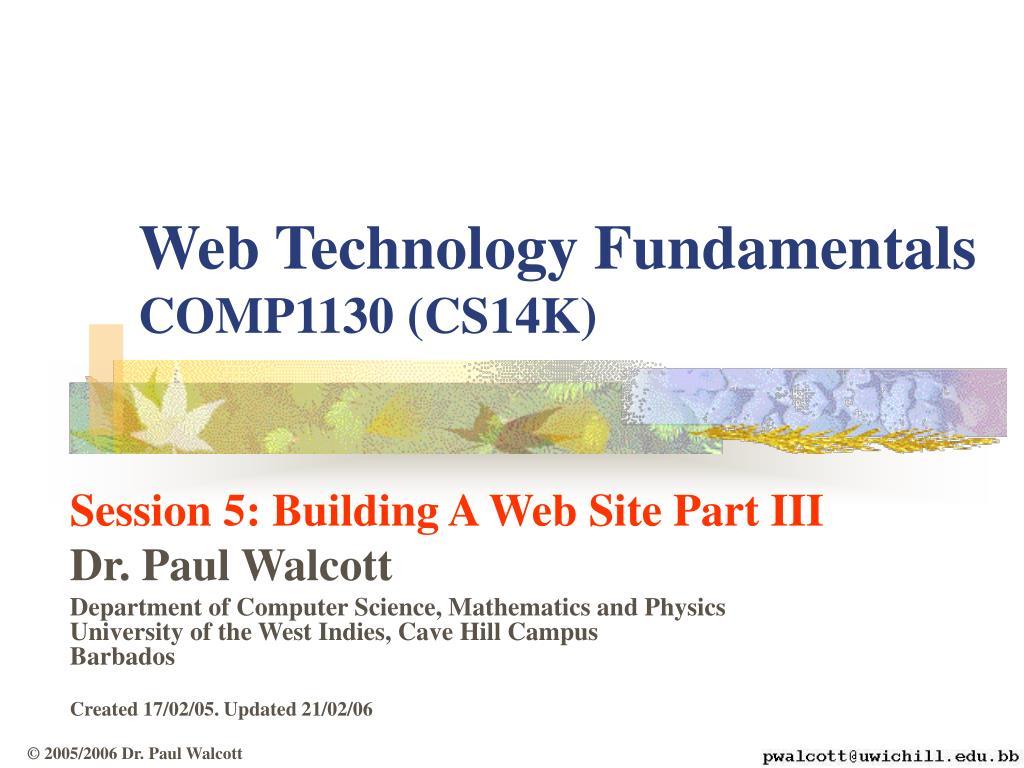 web technology fundamentals comp 1130 cs14k l.