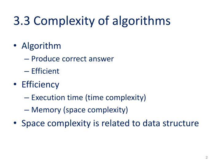 3 3 complexity of algorithms