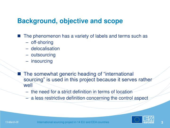 Background objective and scope