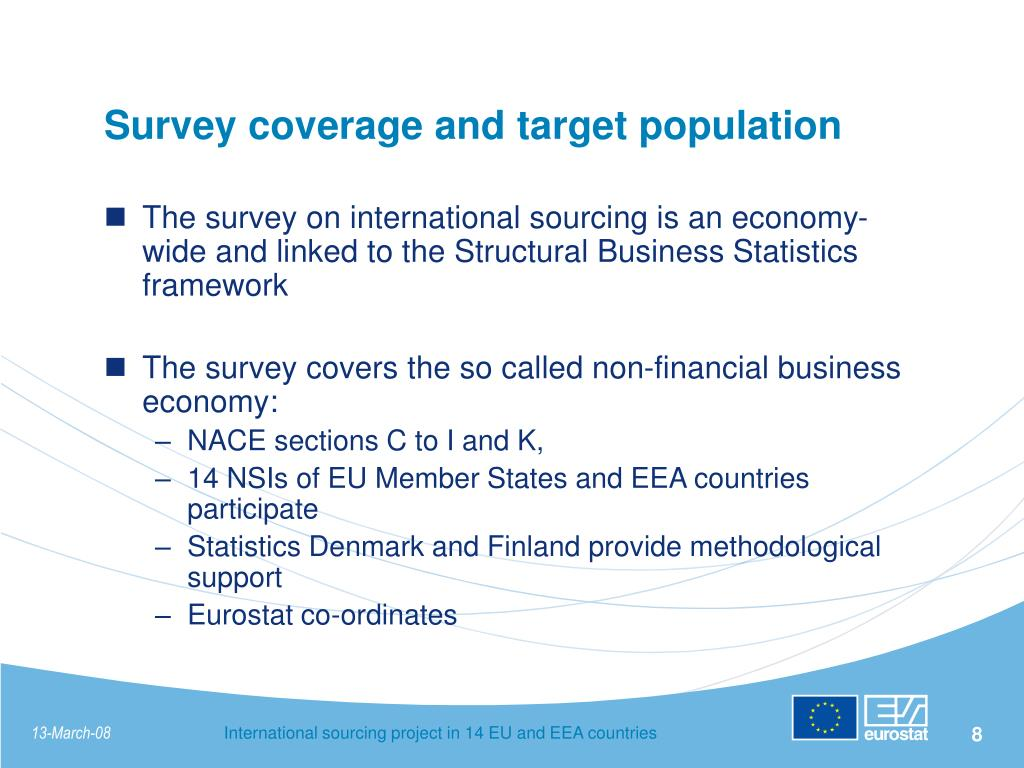 Survey coverage and target population