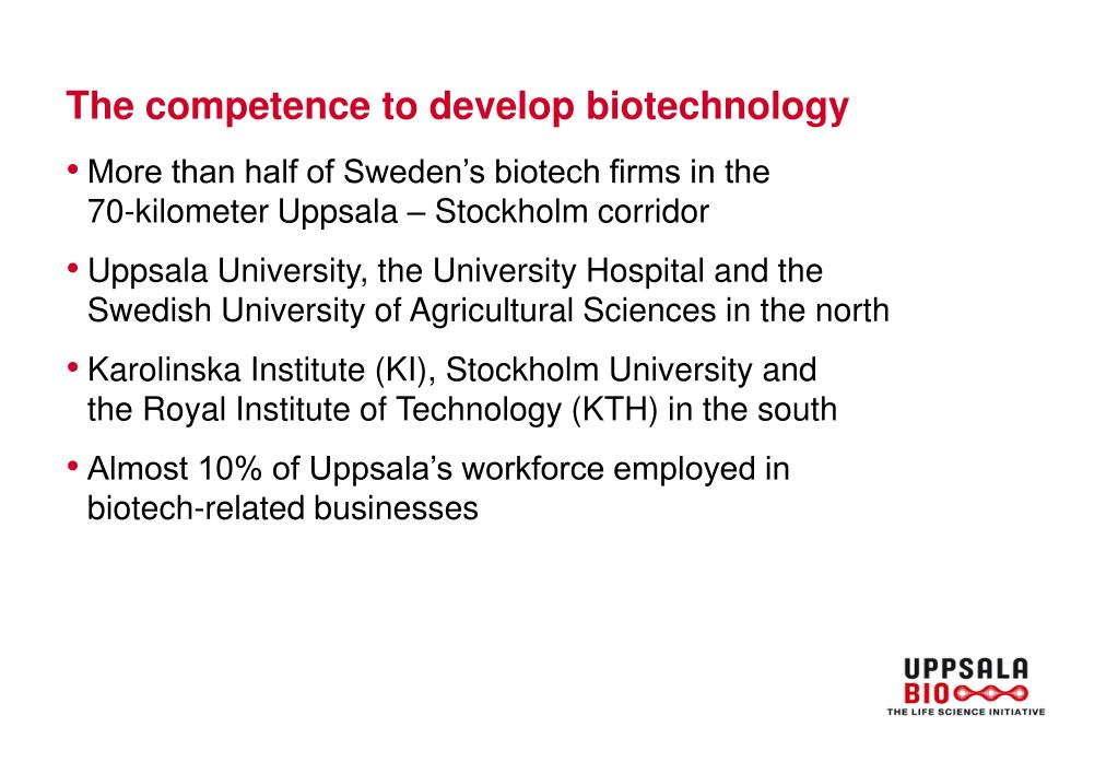 The competence to develop biotechnology
