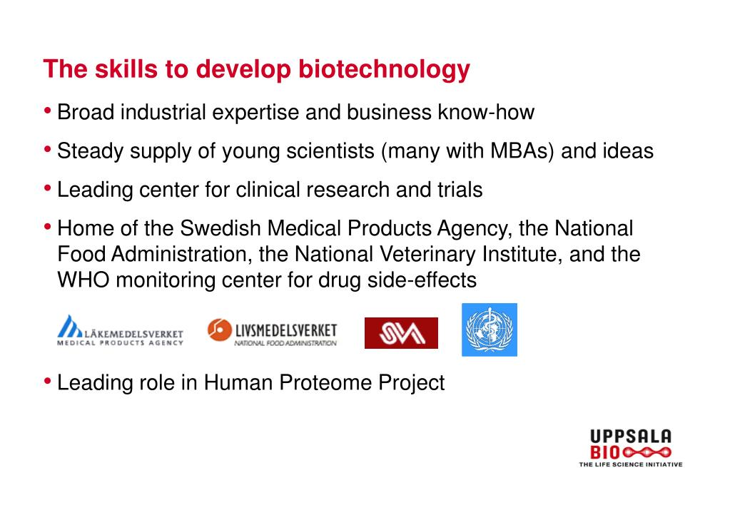 The skills to develop biotechnology