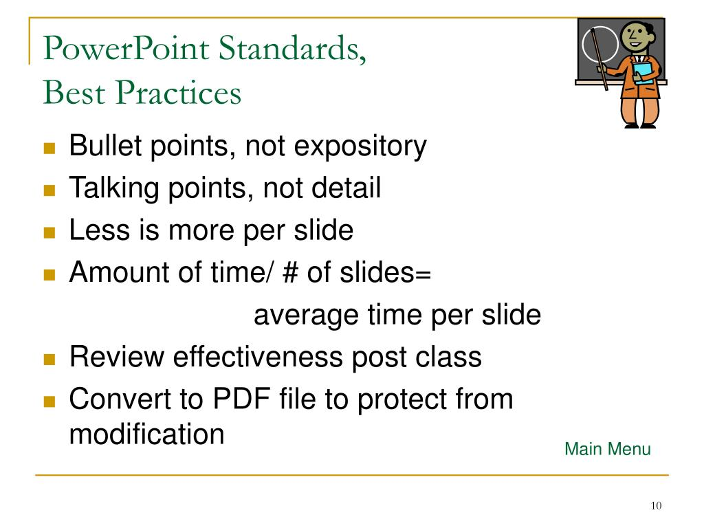PowerPoint Standards,