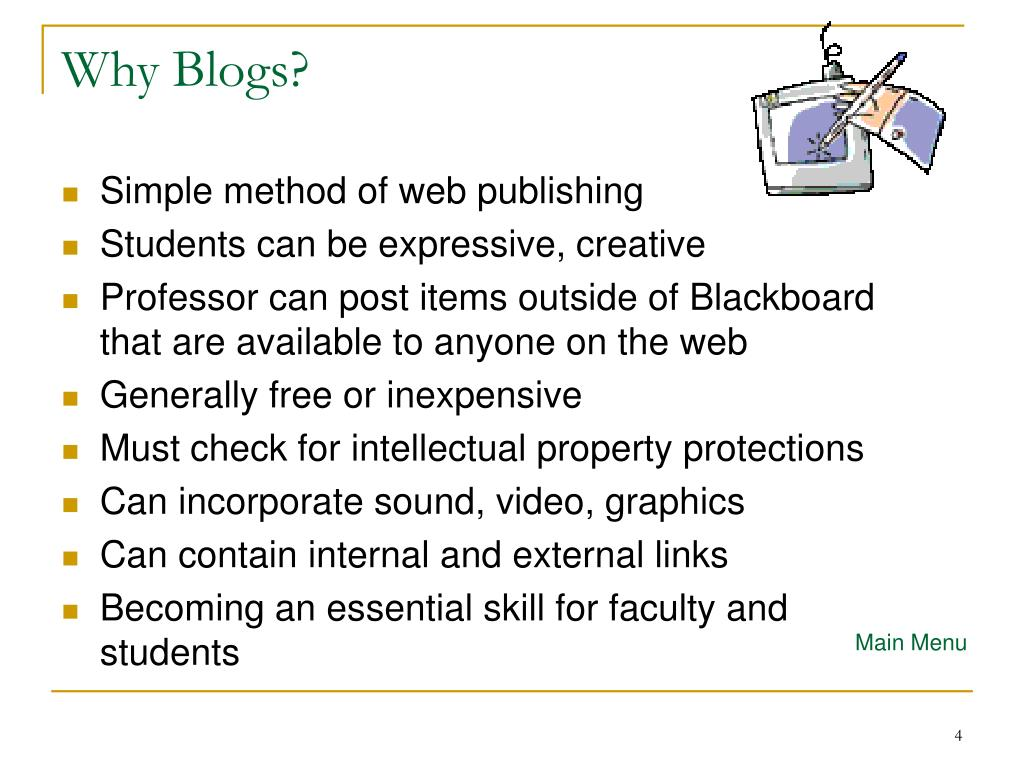 Why Blogs?