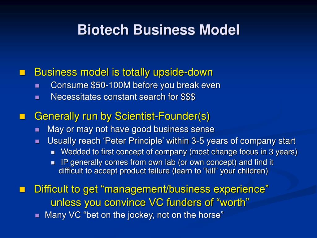 Biotech Business Model