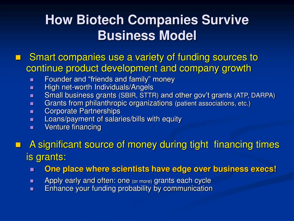 How Biotech Companies Survive