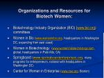 organizations and resources for biotech women