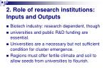2 role of research institutions inputs and outputs
