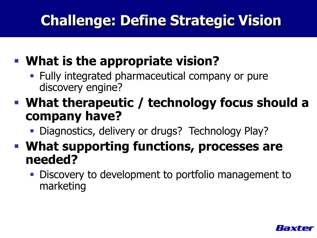 Challenge: Define Strategic Vision