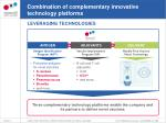 combination of complementary innovative technology platforms