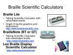 braille scientific calculators